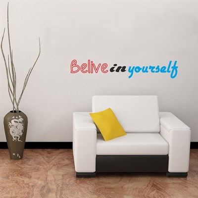 DekorLoft Belive In You Self Duvar Sticker DY-102