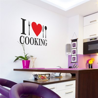 DekorLoft I Love Cooking Duvar Sticker DY-103